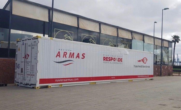 Naviera Armas Trasmediterránea pone medios a disposición de Cruz Roja