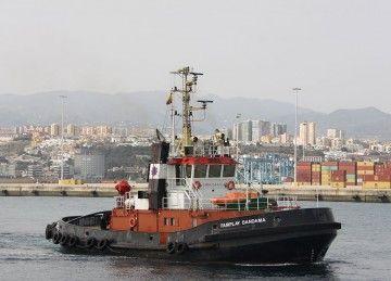 """El remolcador """"Fairplay Bandama"""", uno de los cuatro establecidos en el puerto de Las Palmas de Gran Canaria"""