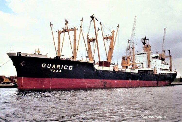 """Estampa marinera del buque """"Guárico"""""""