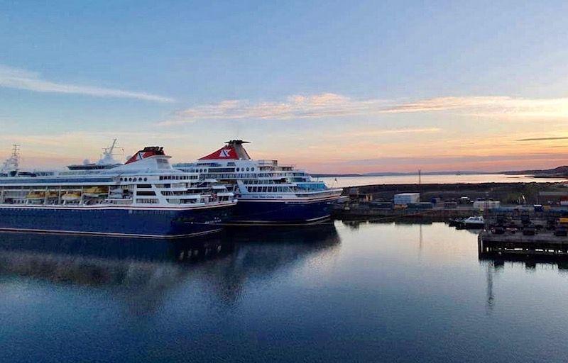"""Los buques """"Braemar"""" y """"Balmoral"""" comparten invernada"""