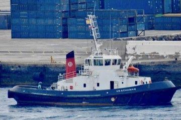 """El remolcador """"VB Achamán"""", en el puerto de Las Palmas de Gran Canaria"""