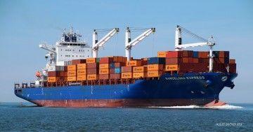 """""""Barcelona Express"""", último barco de Hapag Lloyd que ha operado en el puerto de Málaga"""