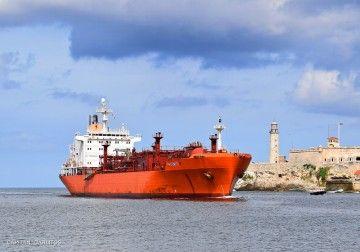 """El buque LPG """"Pastorita"""" arriba al puerto de La Habana"""
