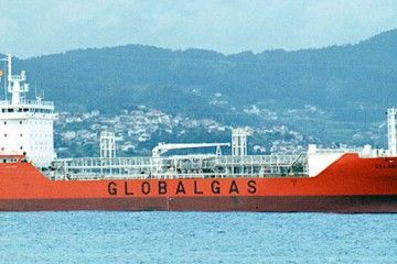"""El gasero español """"Celanova"""", recién entregado a Globalgas"""