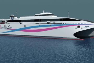 El primer cliente de la nueva generación de water jets de KM será el buque Incat 097
