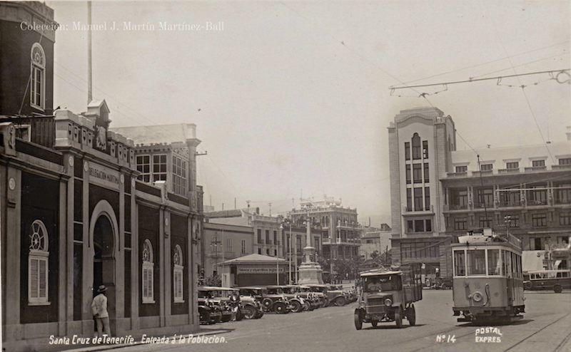 La primera Comandancia de Marina estaba a la entrada de la ciudad