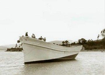 """La foto corresponde a la botadura del buque """"Constantino Lobo"""", gemelo del """"Comandante Lobo"""""""