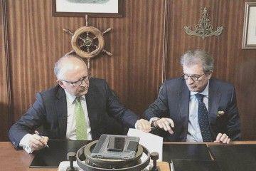Rodolfo Núñez y Alfredo Morales, presidente y vicepresidente de Binter