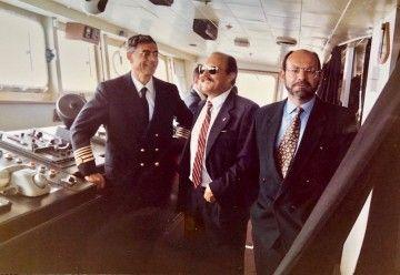 De izquierda a derecha, José Chillón González, Tomás González Sánchez-Araña y José Ramón León Herrera