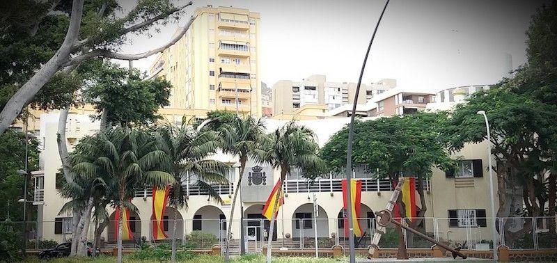Fachada de la Comandancia Naval de Tenerife (2020)