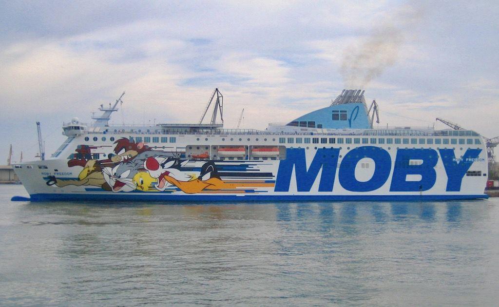 """En su etapa italiana, con el nombre de """"Moby Freedom"""""""