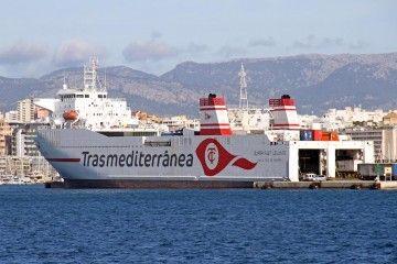 """El buque """"Super-Fast Levante"""", atracado en el puerto de Palma de Mallorca"""