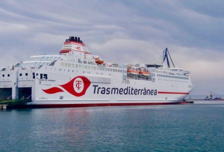 """El ferry """"Ciudad de Granada"""", ex """"Sorolla"""", de nuevo en Baleares"""