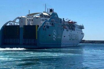 """Disposición de los tanques de GNL a popa del ferry """"Bahama Mama"""""""