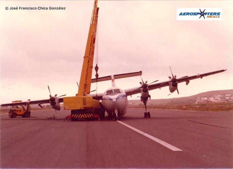 Estado en el que quedó el avión tras el accidentado aterrizaje