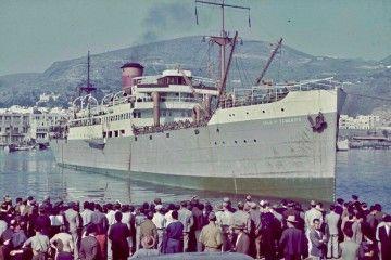 """Maniobra de salida del buque """"Isla de Tenerife"""""""