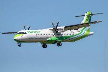 El nuevo avión de Binter, la semana pasada, en un vuelo de prueba en Toulouse