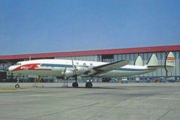 El avión Lockheed Super Constellation EC-BEN que TAE no llegaría a volar