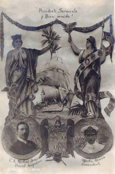 Postal editada con motivo de la escala de 1930