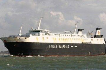 """Estampa marinera del buque rolón """"Velázquez"""""""