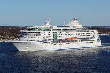 """Estampa marinera del buque """"Birka Stockhom"""", construido en 2004"""