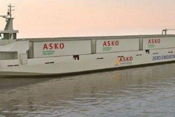 Este sera el aspecto exterior de los ro-ro eléctricos de Asko Maritime