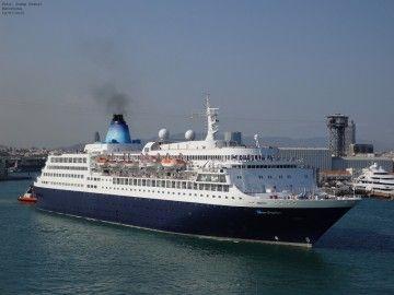 """El buque """"Saga Sapphire"""", en el puerto de Barcelona"""
