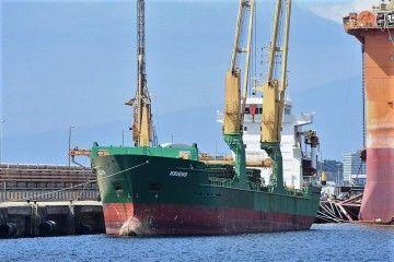 """El buque """"Kriens"""", atracado en el puerto de Santa Cruz de Tenerife"""