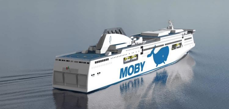 Este será el aspecto exterior de los nuevos ropax de Moby Lines