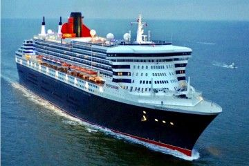 """Queen Mary 2"", emblema de Cunard Line"