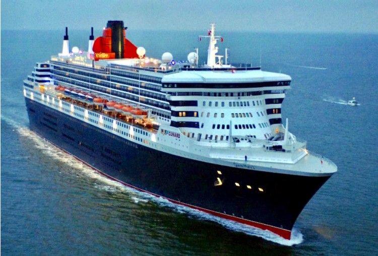 """""""Queen Mary 2"""", emblema de Cunard Line"""