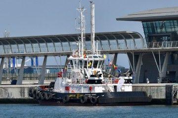 """Estampa marinera del remolcador dual """"Ibaizábal Quince"""""""