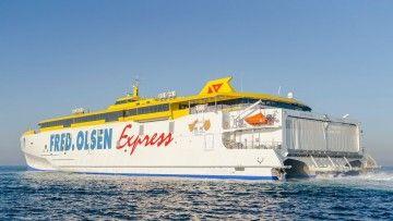 """El trimarán """"Bajamar Express"""", ha cruzado esta mañana el estrecho de Gibraltar"""