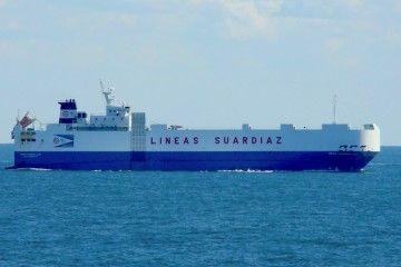 "El buque ""Gran Canaria Car"", de la flota de Líneas Suardíaz"