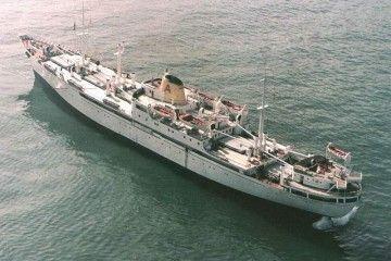 """Estampa marinera del buque mixto """"Monte Anaga"""""""