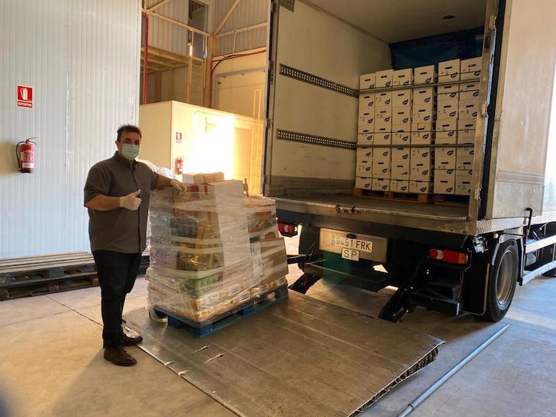 El transporte desde Tenerife, ida y vuelta, se realizó en un camión de Vía Colombina