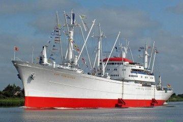 """Elegante estampa marinera del buque """"San Diego"""""""