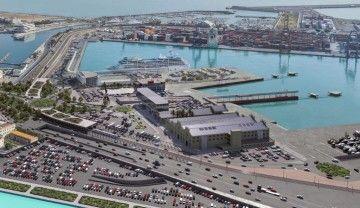 Fotomontaje de la futura terminal de Balearia en el puerto de Valencia