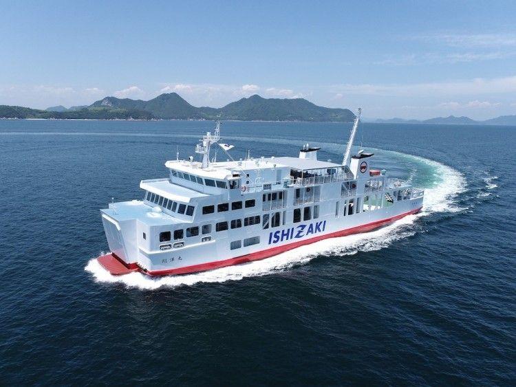 "Estampa marinera del ferry japonés ""Shoyo Maru"""