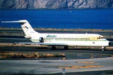 Douglas DC-9 EC-BQZ en rodaje por la pista del aeropuerto de Gran Canaria