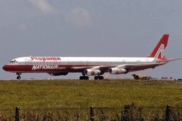 Douglas DC-8 de Nationair Air alquilado por Hispania