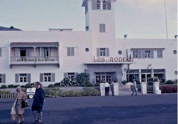 Vista parcial de la fachada lado aire del aeropuerto de Los Rodeos en 1964