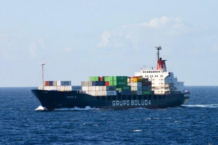 """Estampa marinera del buque """"Nieves B"""""""