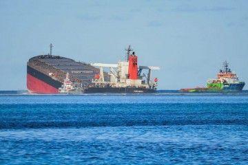 "Finalmente se ha consumado la rotura del buque ""Wakhasio"""