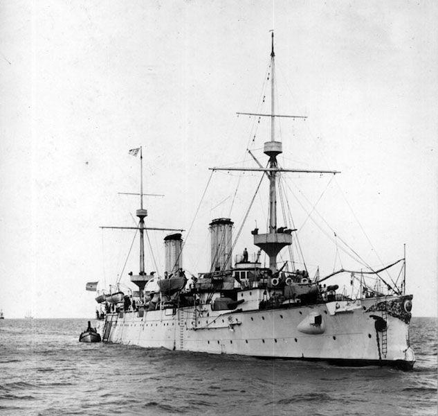 """Estampa marinera del crucero """"ARA Buenos Aires"""""""