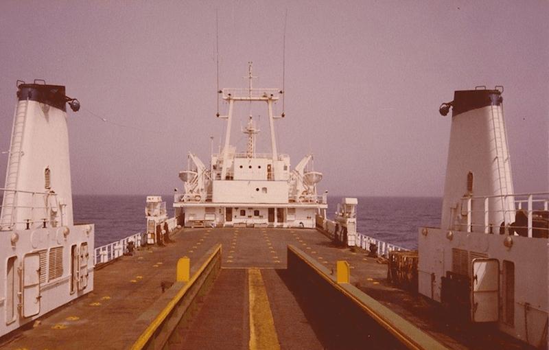 """Vista desde popa de la cubierta del buque """"Kerisnel"""""""