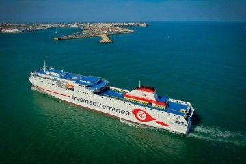 """El buque """"Ciudad de Valencia"""", a su llegada a Cádiz"""