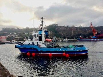 """El remolcador """"Cala Verd"""", inscrito en la matrícula naval de Barcelona"""