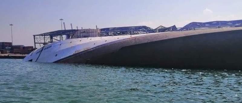"""El vuelco del buque """"Orient Queen II"""" se produjo este mediodía"""