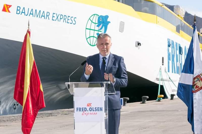 El presidente del Gobierno de Canarias, Ángel Víctor Torres, en su intervención